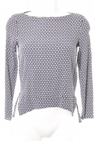 Zara Woman Langarm-Bluse schwarz-weiß abstraktes Muster Elegant