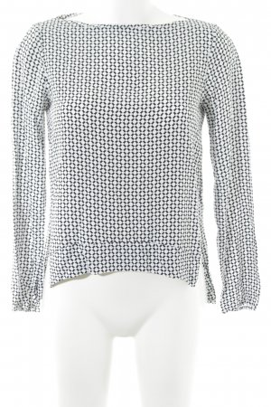 Zara Woman Blusa de manga larga negro-blanco elegante