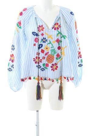 Zara Woman Langarm-Bluse Streifenmuster Casual-Look