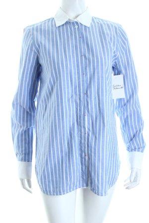 Zara Woman Langarm-Bluse Streifenmuster schlichter Stil