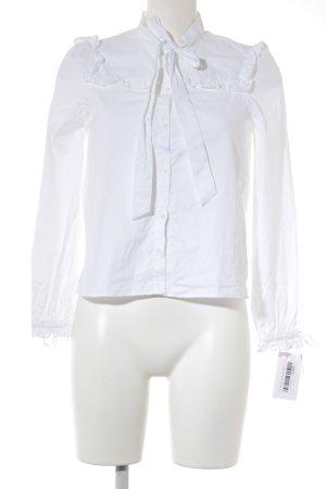 Zara Woman Blusa de manga larga blanco elegante
