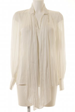 Zara Woman Langarm-Bluse weiß Elegant