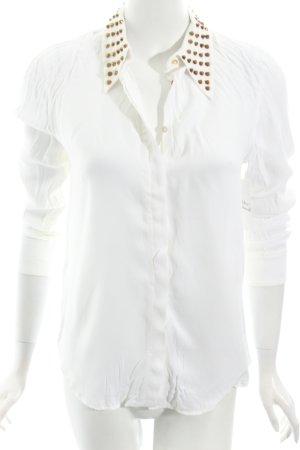 Zara Woman Langarm-Bluse weiß Street-Fashion-Look