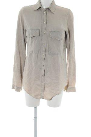 Zara Woman Langarmhemd hellgrau Casual-Look