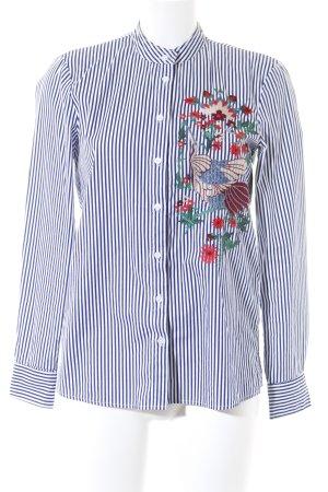 Zara Woman Langarmhemd florales Muster Street-Fashion-Look