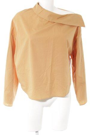 Zara Woman Camisa de manga larga naranja claro estilo sencillo