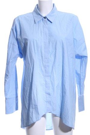 Zara Woman Langarmhemd himmelblau Business-Look
