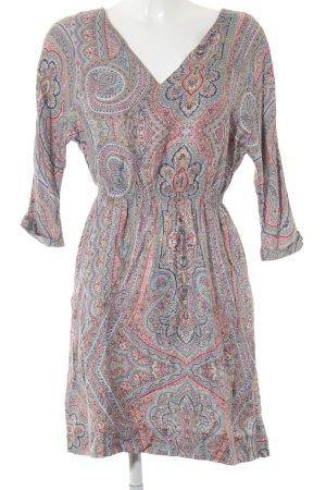 Zara Woman Langarmkleid abstraktes Muster Casual-Look