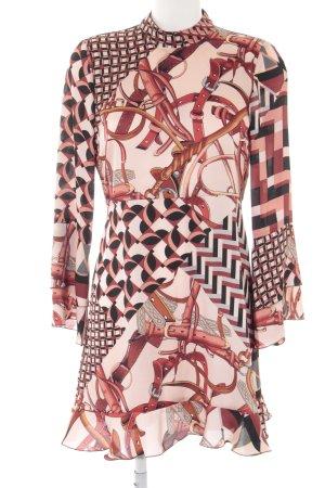 Zara Woman Langarmkleid abstraktes Muster Elegant