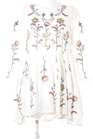 Zara Woman Langarmkleid Blumenmuster Boho-Look