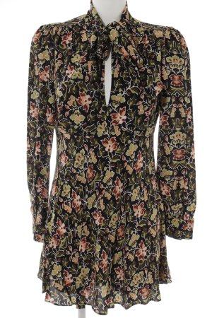 Zara Woman Langarmkleid Blumenmuster Hippie-Look