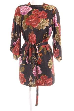 Zara Woman Langarmkleid Blumenmuster Romantik-Look