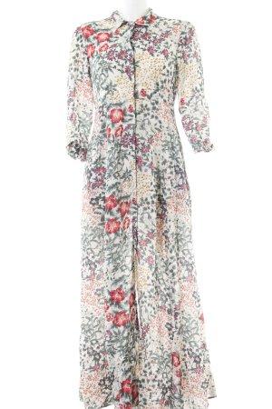 Zara Woman Langarmkleid Blumenmuster schlichter Stil