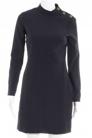 Zara Woman Langarmkleid dunkelblau klassischer Stil