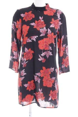 Zara Woman Langarmkleid florales Muster Casual-Look