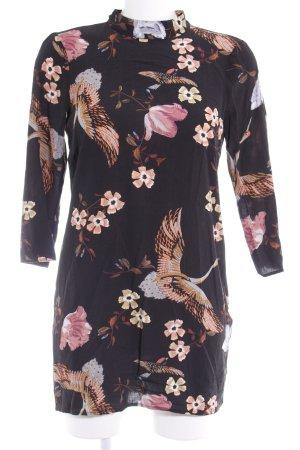 Zara Woman Langarmkleid florales Muster Romantik-Look