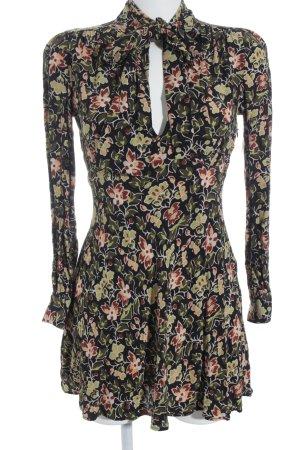Zara Woman Langarmkleid florales Muster schlichter Stil