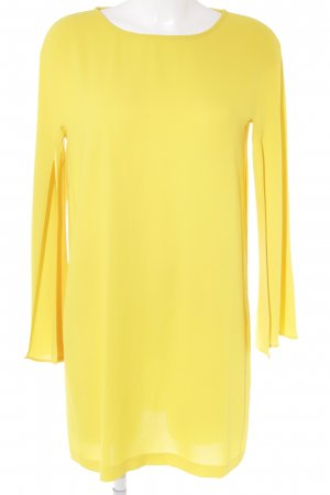 Zara Woman Langarmkleid gelb Elegant