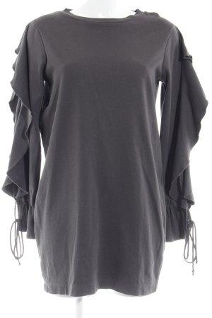 Zara Woman Langarmkleid grau Casual-Look