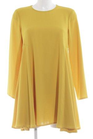 Zara Woman Langarmkleid hellorange extravaganter Stil