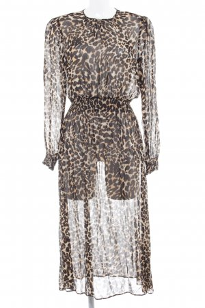 Zara Woman Langarmkleid Leomuster Elegant