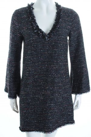Zara Woman Langarmkleid Webmuster Boho-Look