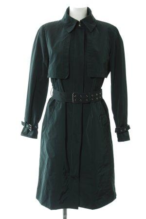 Zara Woman Veste longue vert foncé élégant