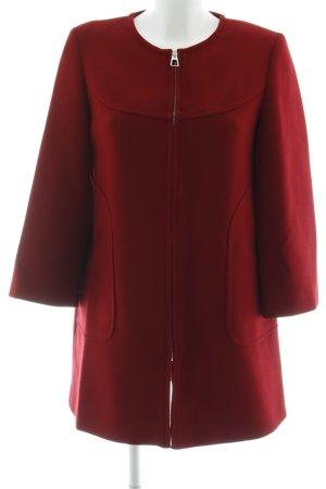 Zara Woman Lange Jacke karminrot-schwarz Brit-Look