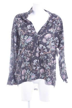 Zara Woman Blouse en cuir motif de fleur style décontracté