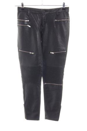 Zara Woman Leather Trousers black casual look