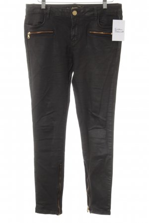 Zara Woman Lederhose dunkelbraun Street-Fashion-Look