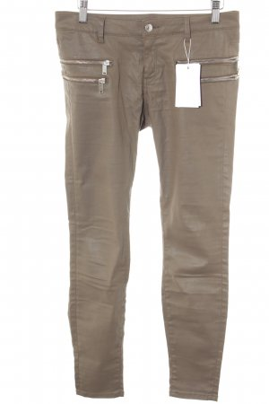 Zara Woman Leather Trousers light brown casual look