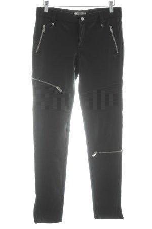 Zara Woman Lederhose schwarz Biker-Look