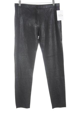 Zara Woman Leren broek zwart casual uitstraling