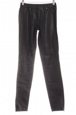 Zara Woman Leather Trousers black leather-look