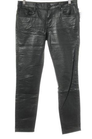 Zara Woman Lederhose schwarz schlichter Stil