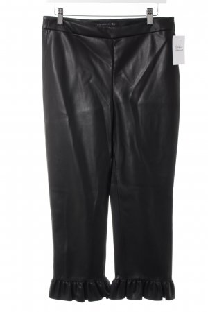 Zara Woman Pantalón de cuero negro look Street-Style