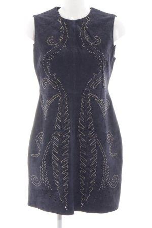 Zara Woman Leren jurk blauw extravagante stijl
