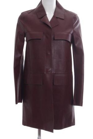 Zara Woman Ledermantel rot Business-Look