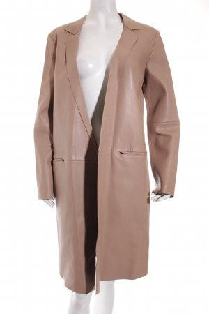 Zara Woman Ledermantel schwarz-beige Street-Fashion-Look