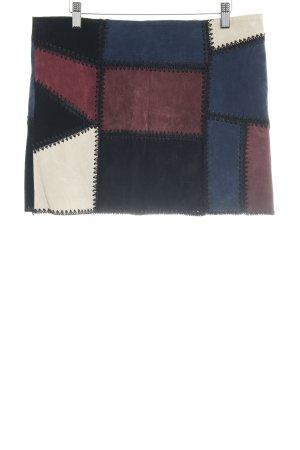 Zara Woman Lederrock mehrfarbig extravaganter Stil