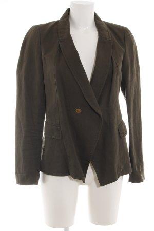 Zara Woman Blazer largo marrón look casual
