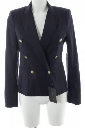 Zara Woman Long-Blazer dunkelblau Marine-Look