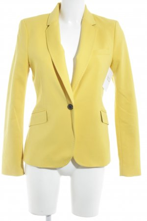 Zara Woman Long-Blazer dunkelgelb Street-Fashion-Look