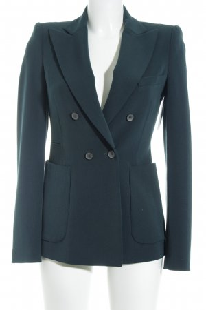 Zara Woman Long-Blazer dunkelgrün Business-Look