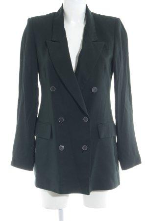Zara Woman Long-Blazer dunkelgrün klassischer Stil