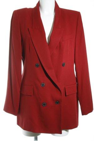 Zara Woman Long-Blazer dunkelrot Elegant