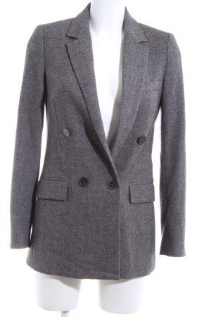 Zara Woman Long-Blazer hellgrau meliert Business-Look