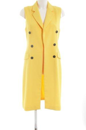 Zara Woman Long-Blazer gelb Elegant