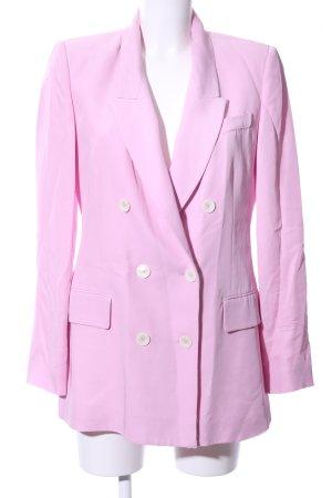 Zara Woman Long-Blazer rosa-blasslila Business-Look